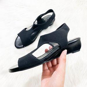 Stuart Weitzman Cutout Sandal Size 8.5 Low Wedge